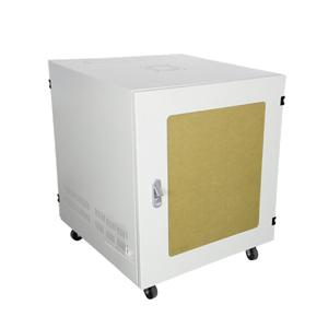 Tủ Rack 9U D500 Giá Rẻ Cửa Mica Màu Trắng