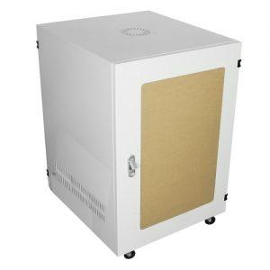 Tủ Rack 15U D600 Giá Rẻ Cửa Lưới Màu Đen