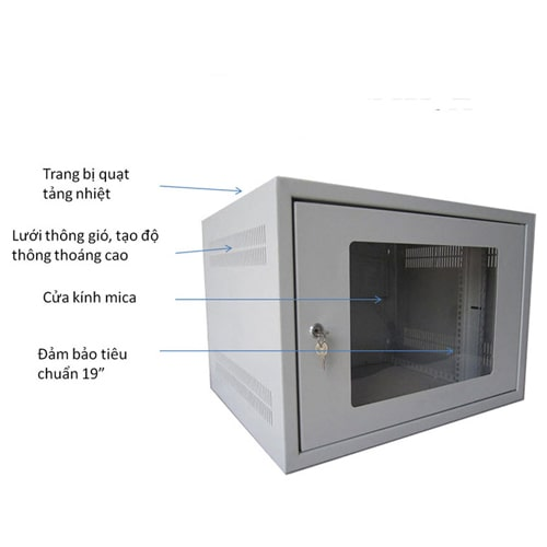 Tủ COMRACK CRNW-6450G 19'' 6U 450