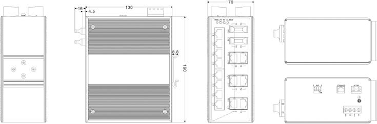 Switch công nghiệp 14 cổng Ethernet + 2 cổng quang IES3016-2F