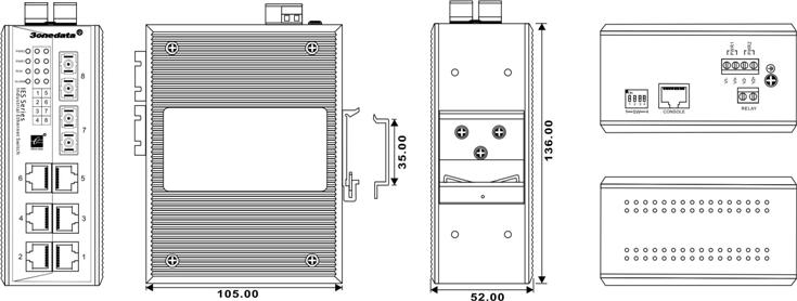 IES618-2F 6 cổng Ethernet + 2 cổng quang