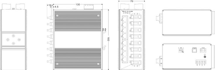 IES6116-8F 8 cổng Ethernet + 8 cổng quang