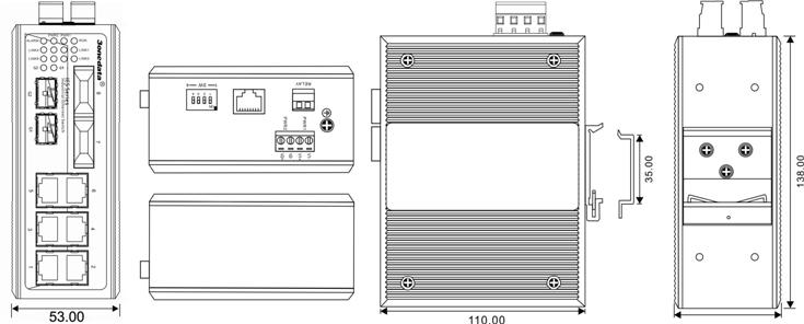 IES7110-2GS-2F 6 cổng Ethernet + 2 cổng quang + 2 cổng SFP