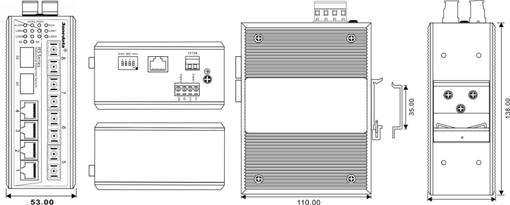IES7110-2GS-4F 4 cổng Ethernet + 4 cổng quang + 2 cổng SFP quang