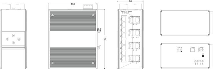 Switch công nghiệp 8 cổng Ethernet + 8 cổng quang IES3016-8F