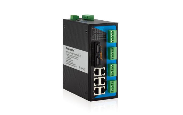 Switch Công Nghiệp 6 Cổng Ethetnet + 2 Cổng Quang + 4 Cổng RS485/422 IES618-2F-4D(RS-485)
