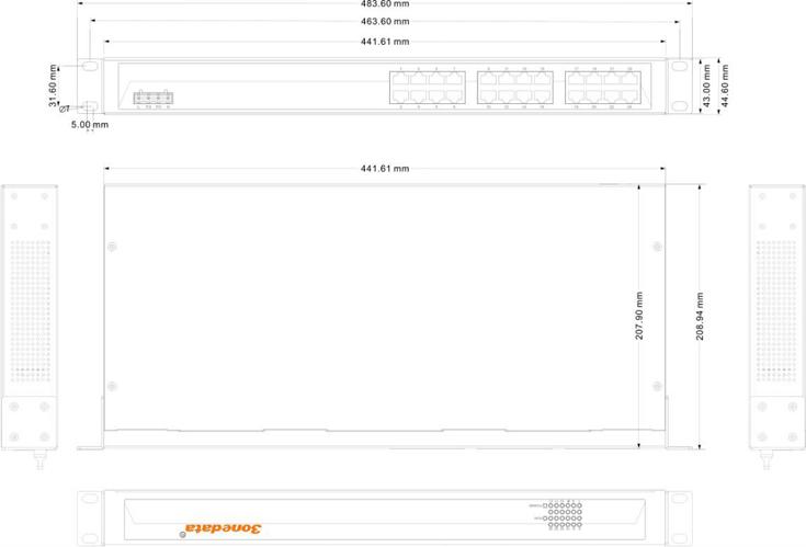 ES1024 24 cổng Ethernet