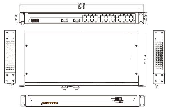 ES1026-2F 24 cổng Ethernet + 2 cổng quang