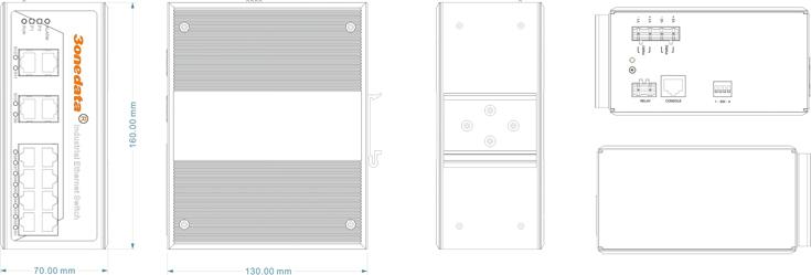 IES7112G-4GS 8 cổng Gigabit Ethernet + 4 cổng quang SFP