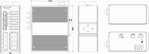 IES7120-4GS-2F 14 cổng Ethernet + 2 cổng quang + 4 cổng SFP