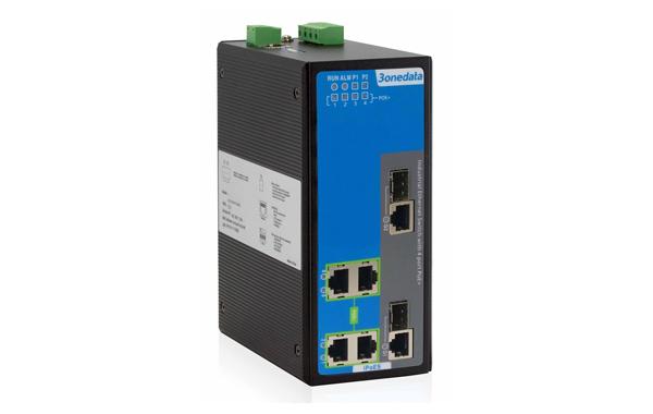 Switch công nghiệp quản lý 4 cổng PoE Ethernet + 2 cổng Combo Gigabit SFP IPS716-2GC-4POE