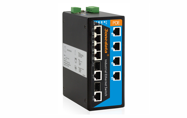 Switch công nghiệp 4 cổng PoE Ethernet + 2 cổng quang Combo Gigabit SFP IPS3110-2GC-4POE