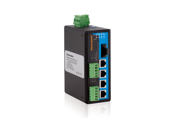 Switch công nghiệp 4 cổng Ethernet + 1 cổng quang + 2 cổng RS485/422 IES615-1F-2D(RS-485)