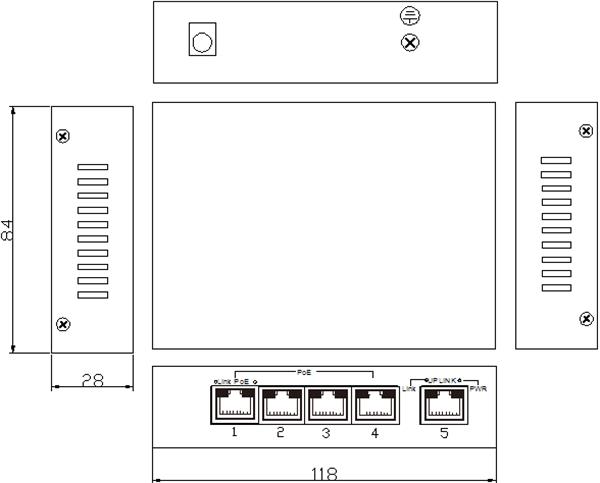 Switch 4 cổng PoE Ethernet ES1005D-4POE-65W