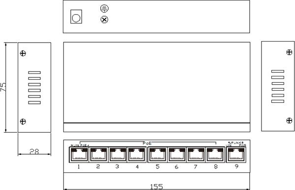 Switch 8 cổng PoE Ethernet ES1009D-8POE-150W