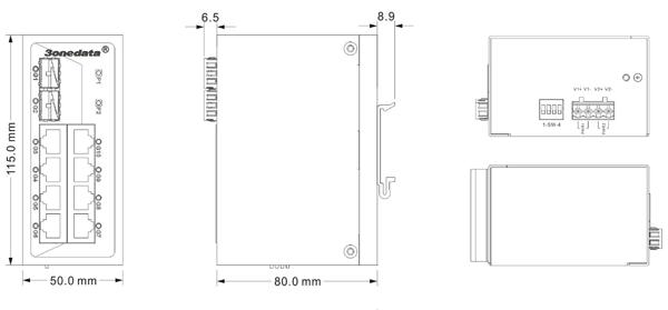 Switch công nghiệp 8 cổng Gigabit Ethernet+2 cổng quang SFP ES2010G-2GS
