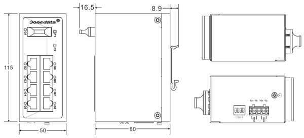 Switch công nghiệp 8 cổng Ethernet + 2 cổng quang SFP IES2010-2GS