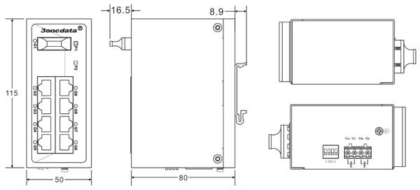 Switch công nghiệp 8 cổng Gigabit Ethernet + 1 cổng Gigabit quang ES209G-1GF