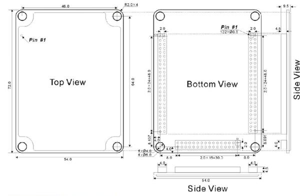 Module nhúng switch công nghiệp 7 cổng Ethernet + 3 cổng Gigabit Ethernet IEM7010