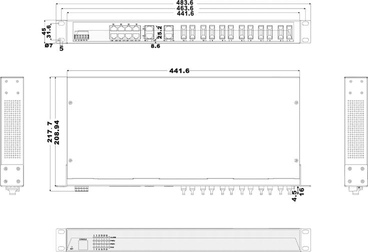 IES1024-12F 12 cổng Ethernet và 12 cổng quang