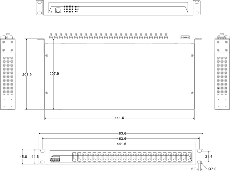 IES1024-24F 24 cổng quang