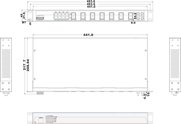 IES1024-2F 22 cổng Ethernet + 2 cổng quang