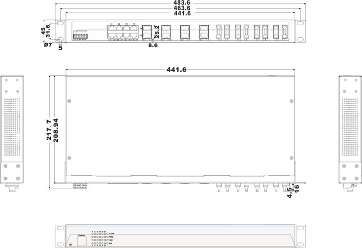 IES1024-8F 16 cổng Ethernet và 8 cổng quang