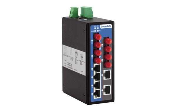 Switch công nghiệp 4 cổng Ethernet + 2 cổng Gigabit quang + 4 cổng quang IES2010-2GF-4F