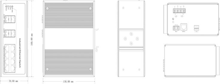 Switch công nghiệp 8 cổng Ethernet + 4 cổng quang SFP IES3012G-4GS