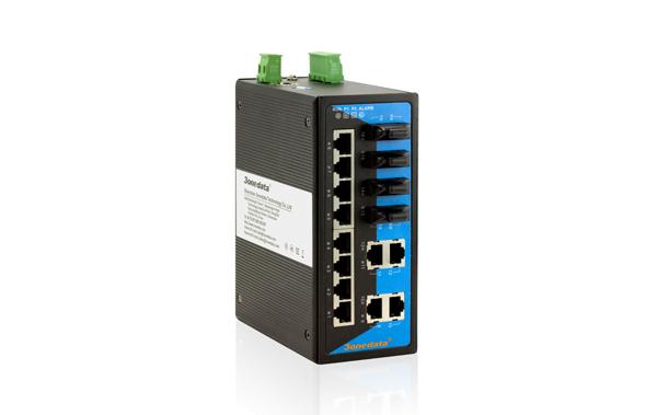 Switch công nghiệp 12 cổng Ethernet + 4 cổng quang IES3016-4F