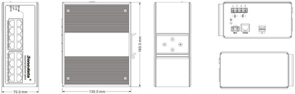 Switch công nghiệp 16 cổng Gigabit Ethernet IES3016G