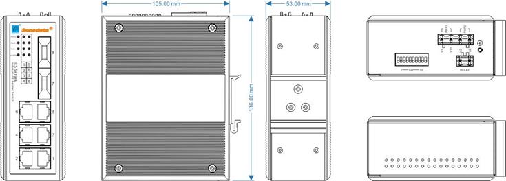 Switch công nghiệp 6 cổng Ethernet và 2 cổng quang IES308-2F