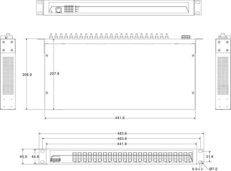 IES5024-24F 24 cổng quang