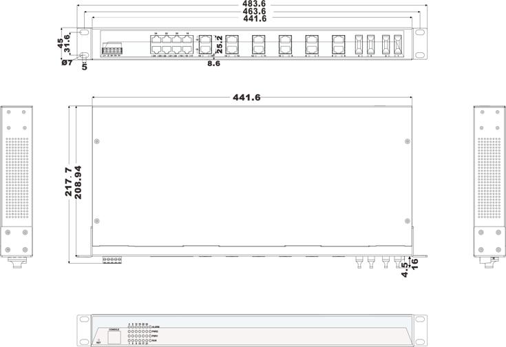 IES5024-4F 20 cổng Ethernet + 4 cổng quang