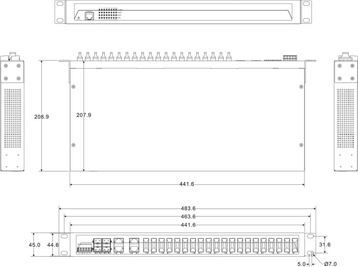 IES5028-4GS-20F 4 cổng Ethernet + 20 cổng quang + 4 cổng quang SFP