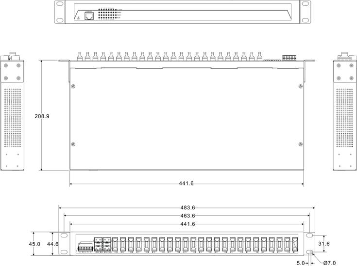 IES5028-4GS-24F 24 cổng quang và 4 cổng quang SFP