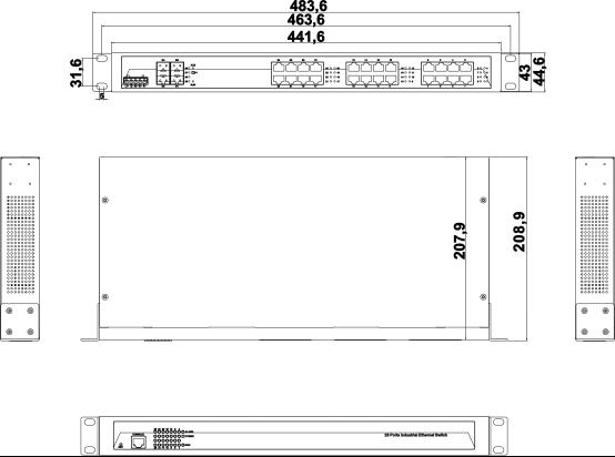 IES5028G-4GS 24 cổng Gigabit Ethernet + 4 cổng quang SFP