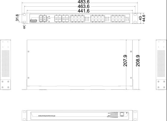 IES5028G-8GC-4GS 16 cổng Ethernet + 8 cổng quang + 4 cổng quang SFP
