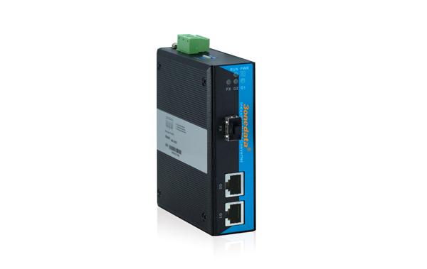 Bộ Chuyển Đổi Quang Điện Công Nghiệp 1 Cổng Quang SFP + 2 Cổng Gigabit Ethernet IMC102GT