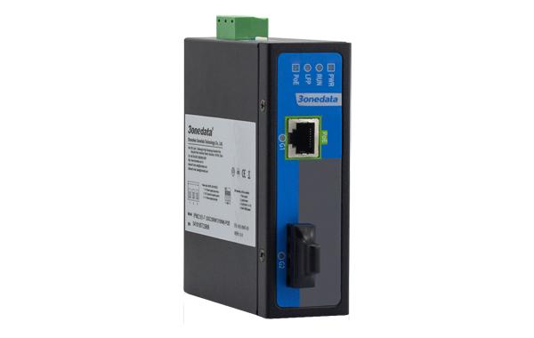 Bộ chuyển đổi quang điện công nghiệp 1 cổng Gigabit PoE Ethernet + 1 cổng Gigabit Quang IPMC101GT-GF-POE