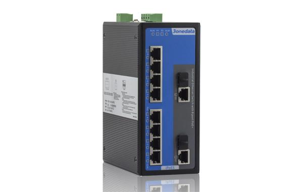 Switch công nghiệp quản lý 8 cổng PoE Ethernet + 2 cổng Combo Gigabit SFP IPS7110-2GC-8POE