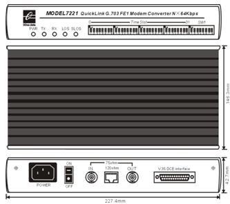 Bộ chuyển đổi V.35 sang FE1 MODEL7221
