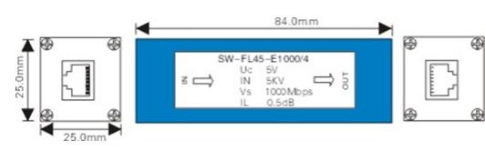 Bộ chống sét Ethernet RJ45 1000m FL45-1000
