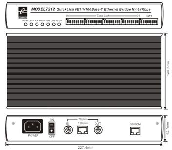 Bộ chuyển đổi Ethernet sang FE1 MODEL7212