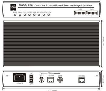 Bộ chuyển đổi Ethernet sang E1 MODEL7211