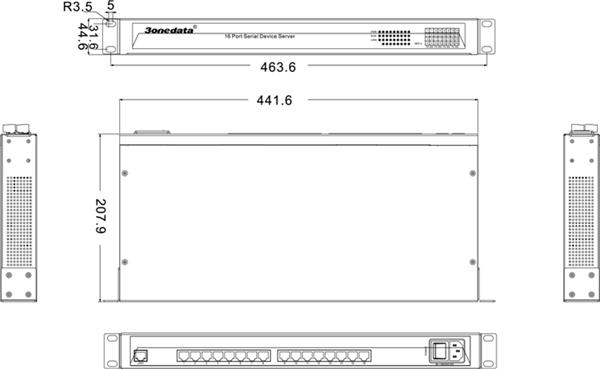 Bộ chuyển đổi 16 cổng RS232 sang Ethernet NP3016T-16D(RS-232)