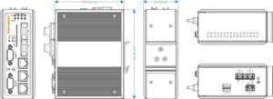 Switch công nghiệp 3 cổng Ethernet + 2 cổng quang + 2 cổng RS232 IES615-2F-2D(RS-232)