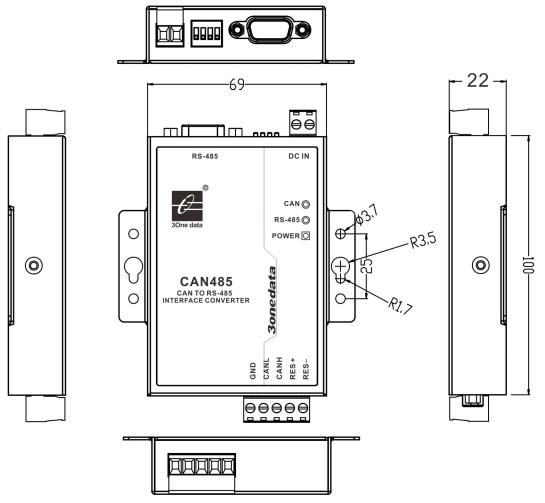 Bộ chuyển đổi CAN sang RS485 CAN485