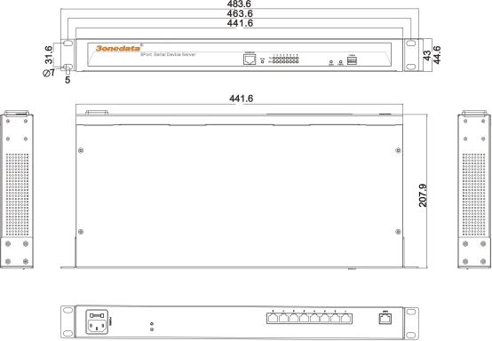 Bộ chuyển đổi 8 cổng RS232/485/422 sang Ethernet NP3008T-8D(RS-232/485/422)