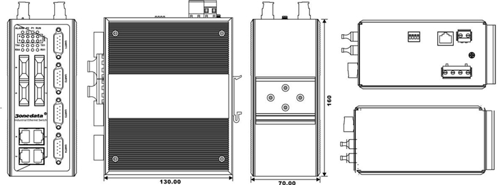 Switch công nghiệp 4 cổng Ethernet + 4 cổng quang + 4 cổng RS232 IES618-4F-4D(RS-232)